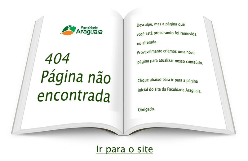 Faculdade Araguaia - 404 - Página não econtrada